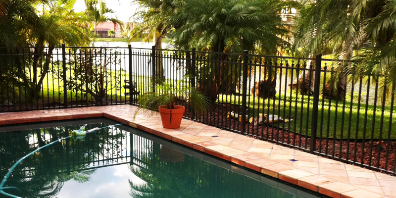 Aluminum fencing in Coral Springs