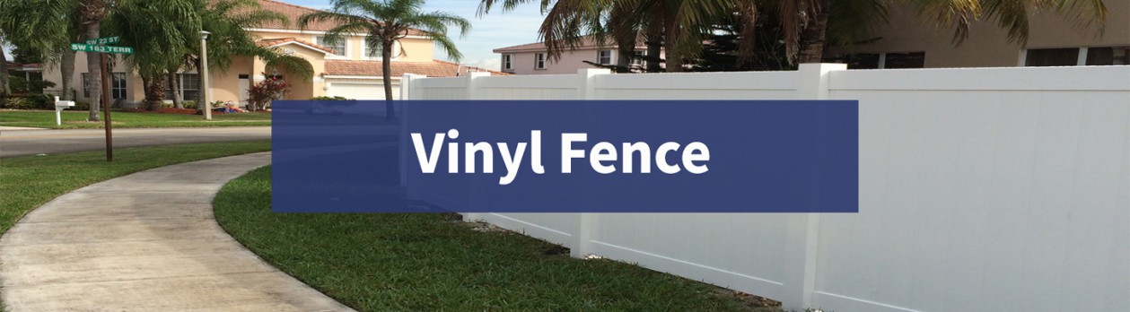 PVC fence in Broward County.