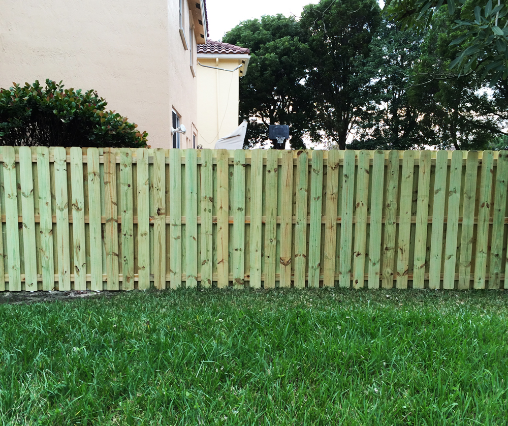 Wood fencing in Coral Springs